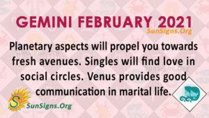 Gemini February 2021