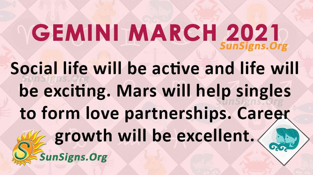 Gemini March 2021