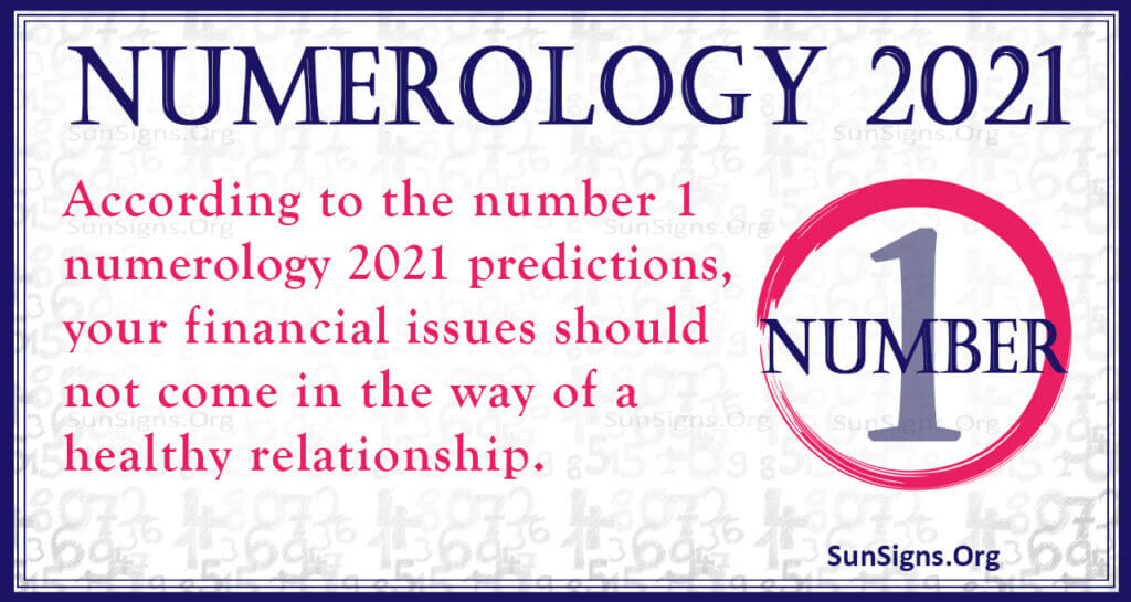numerology number 1 2021