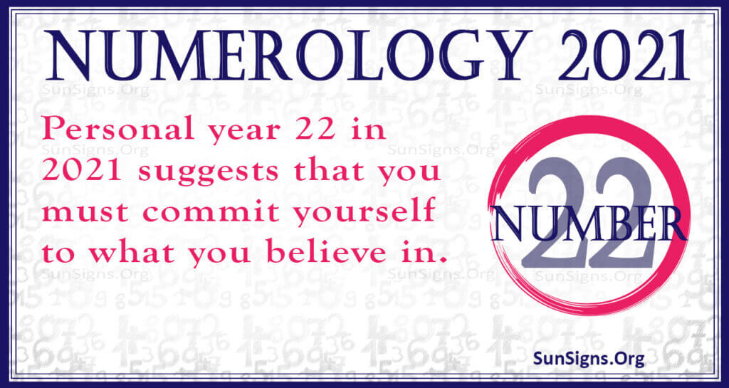 numerology number 22 2021