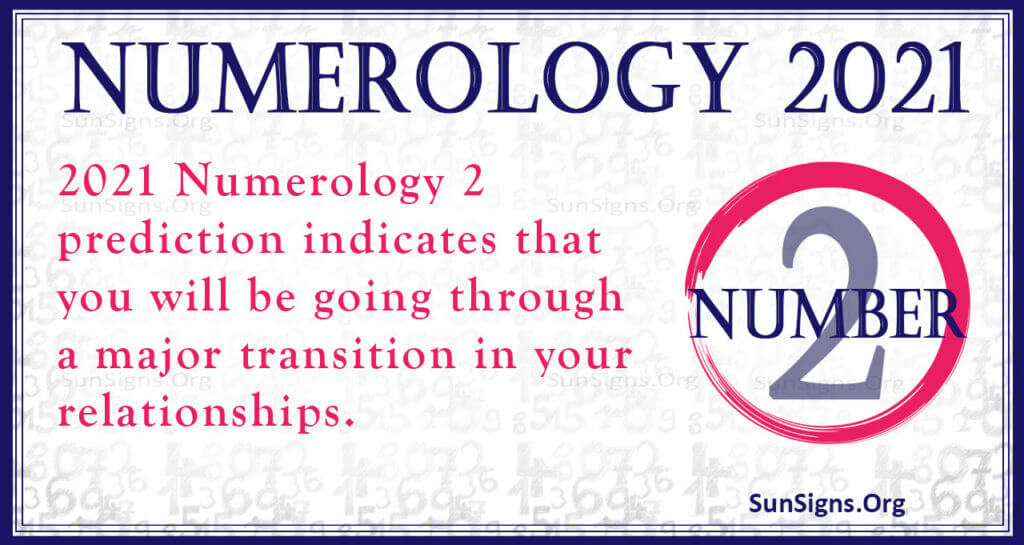 numerology number 2 2021