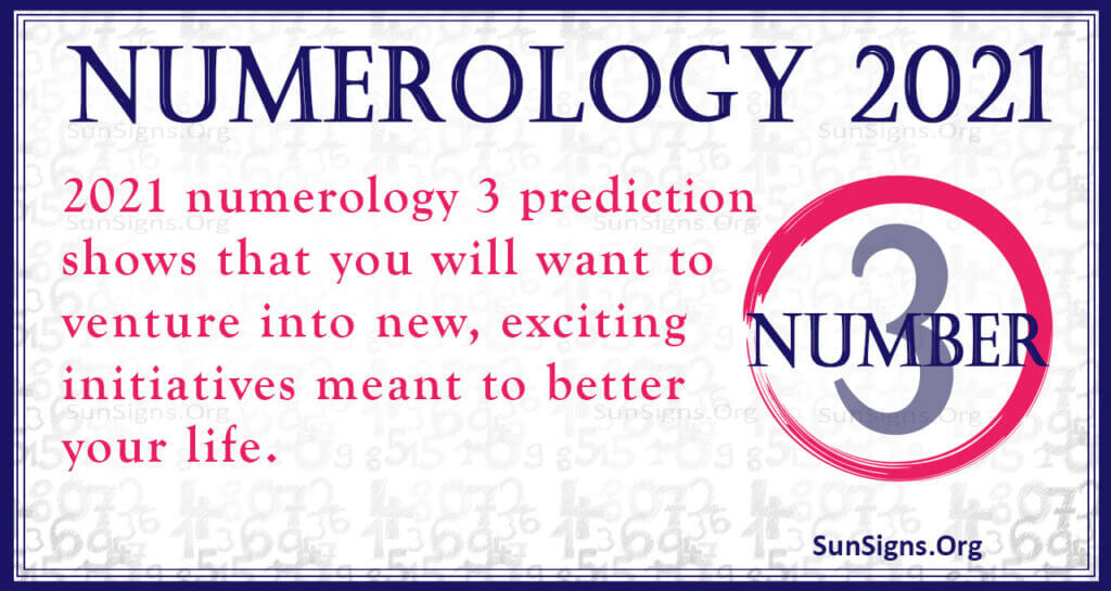 numerology number 3 2021