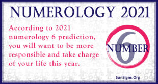 numerology number 6 2021