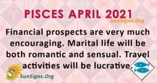 Pisces April 2021