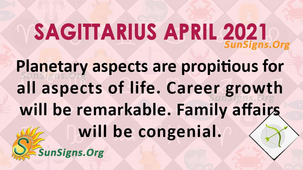 Sagittarius April 2021