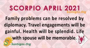 Scorpio April 2021