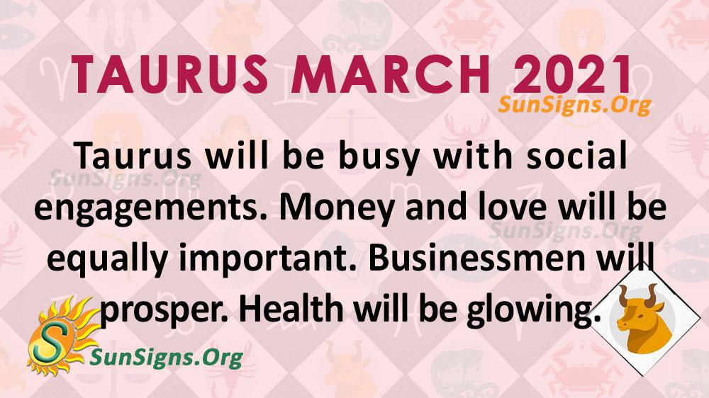 Taurus March 2021