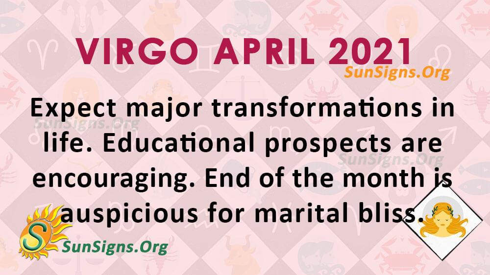 Virgo april horoscopes