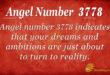3778 angel number
