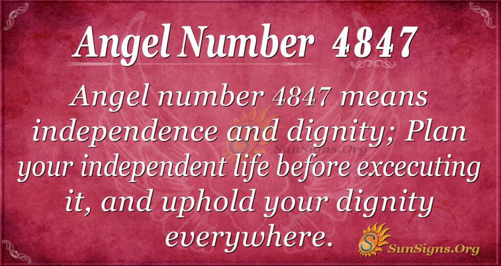 4847 angel number