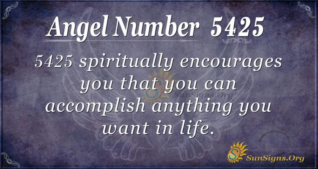 5425 angel number