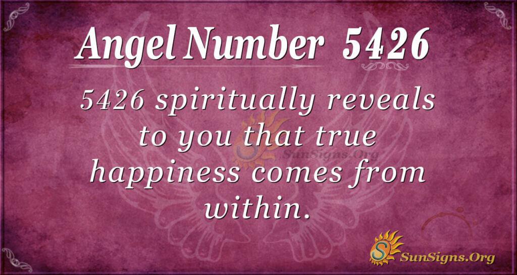 5426 angel number