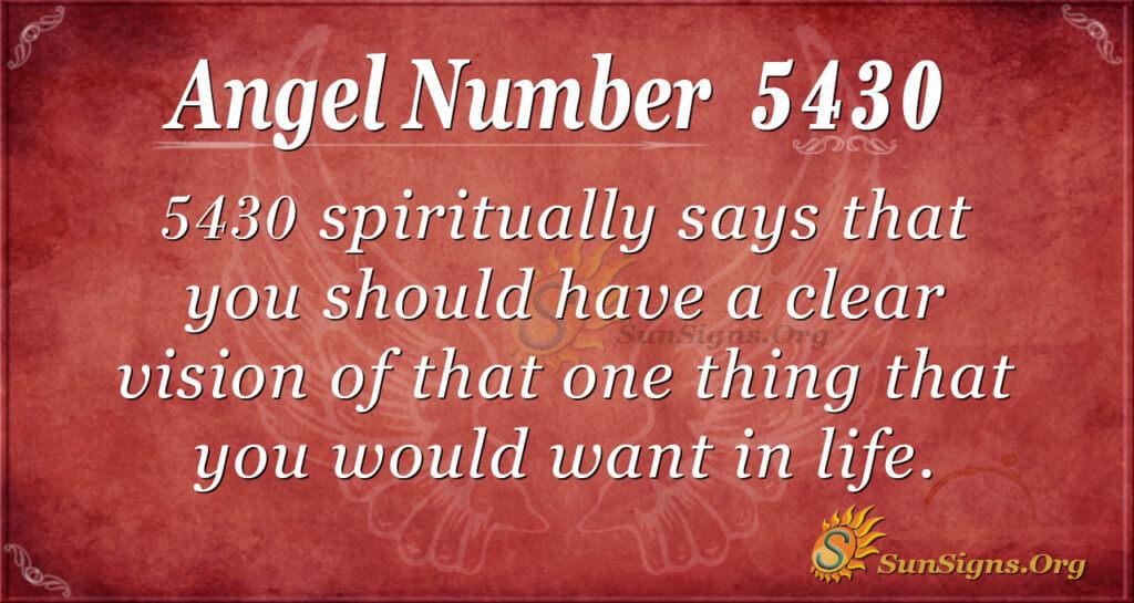 5430 angel number