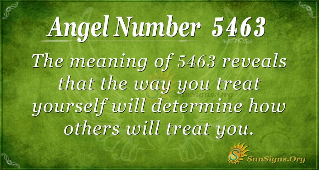 5463 angel number