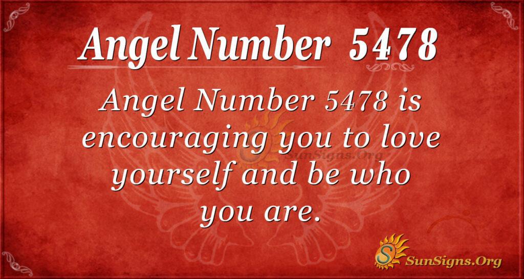 5478 angel number