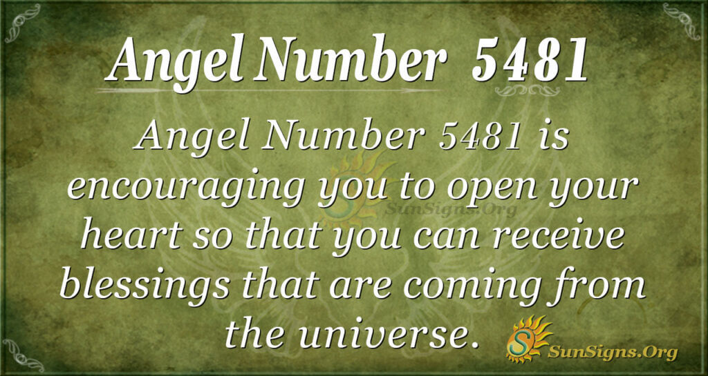 5481 angel number