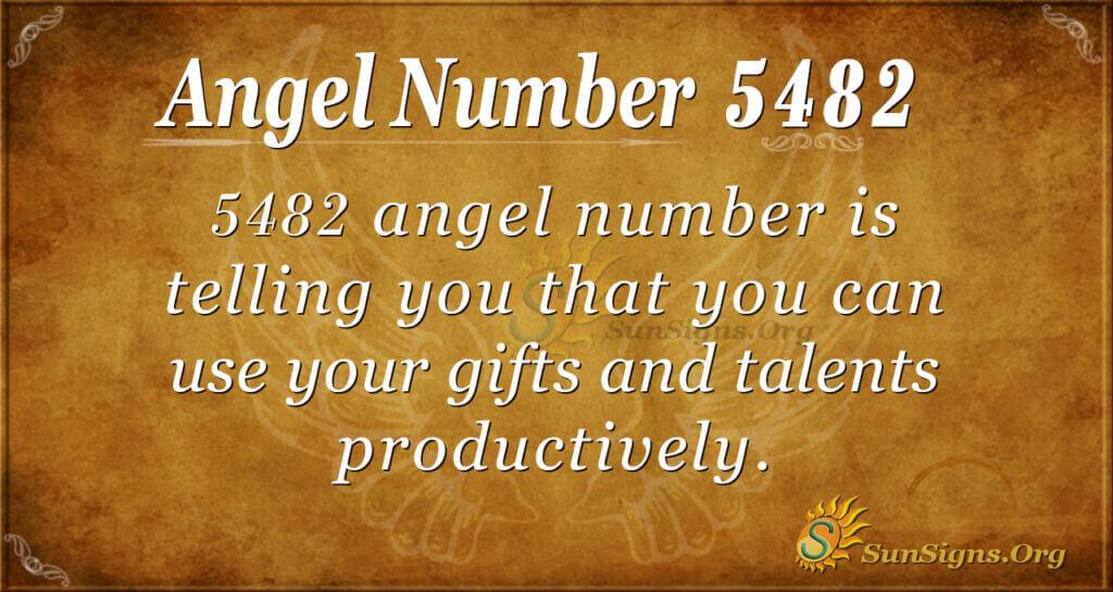 5482 angel number