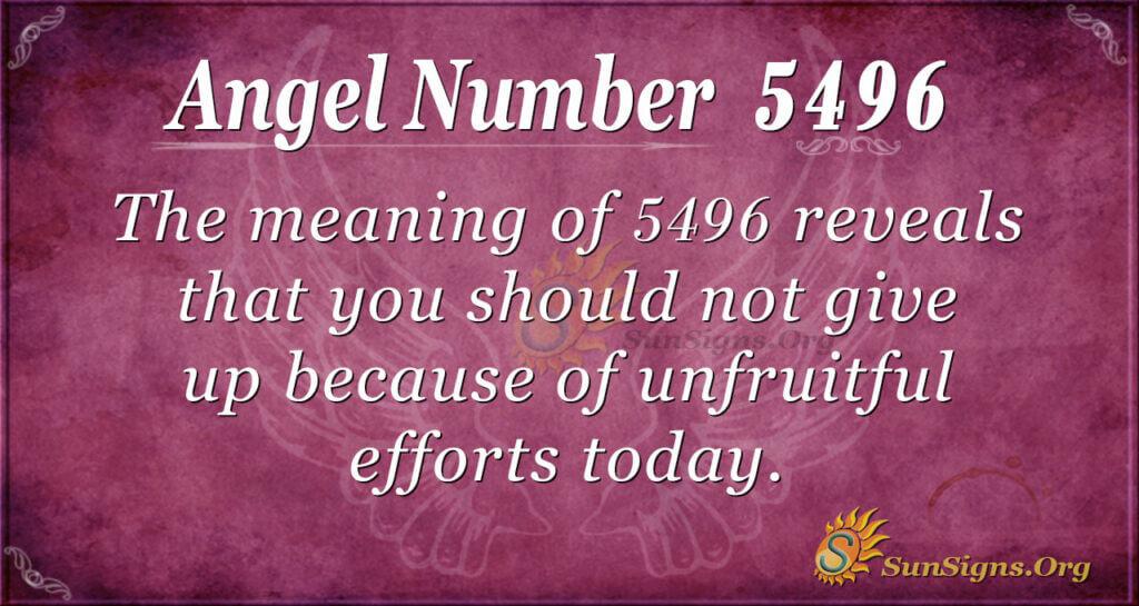 5496 angel number