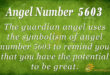 5603 angel number