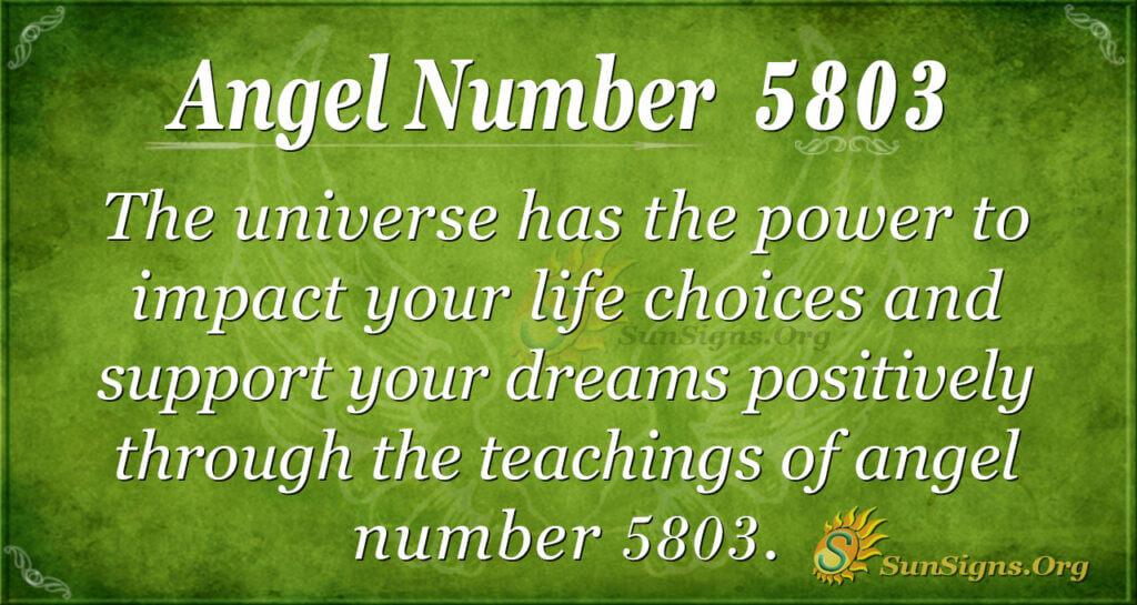 5803 angel number