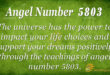 5803 angel number