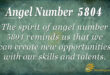 5804 angel number