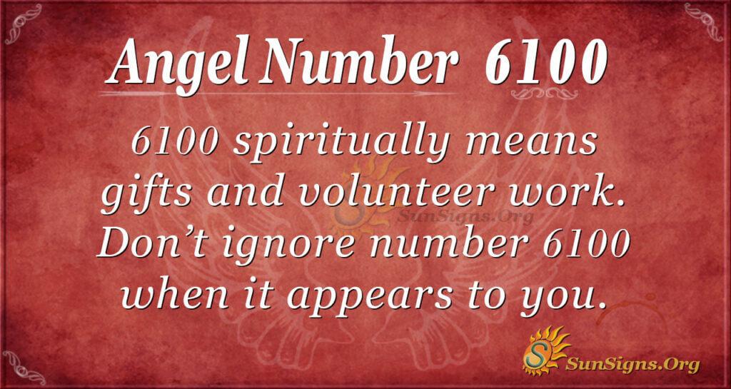 6100 angel number