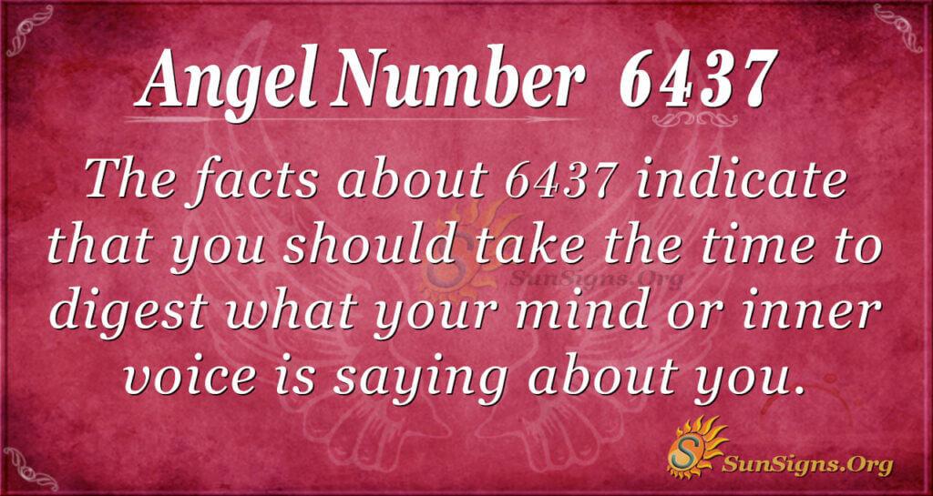 6437 angel number