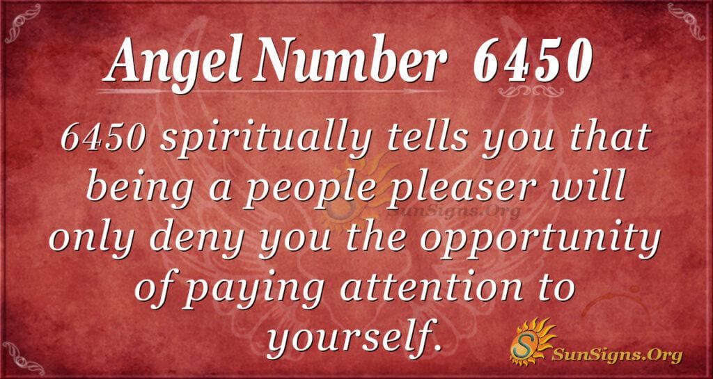 6450 angel number