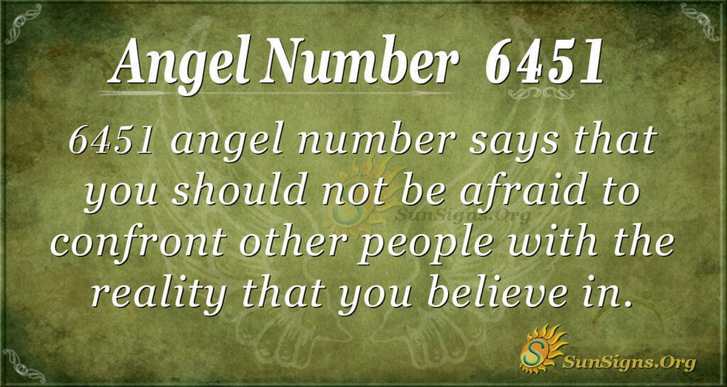 6451 angel number