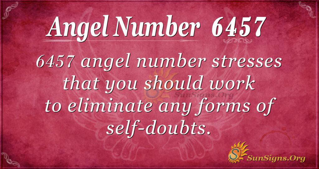 6457 angel number