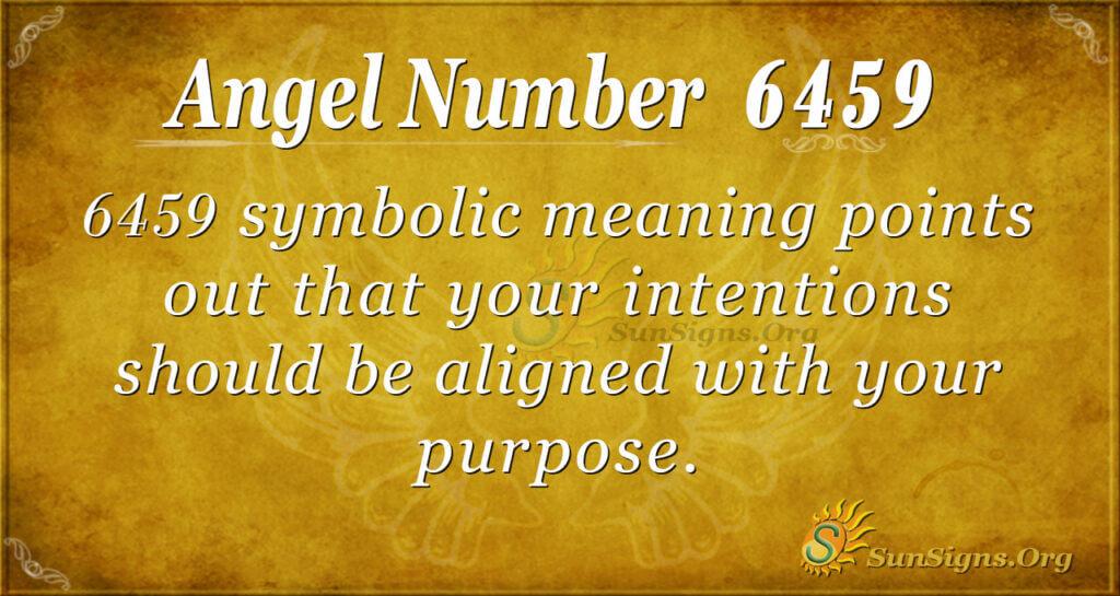 6459 angel number