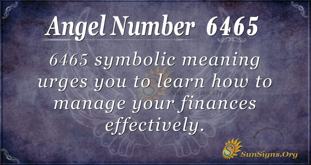 6465 angel number