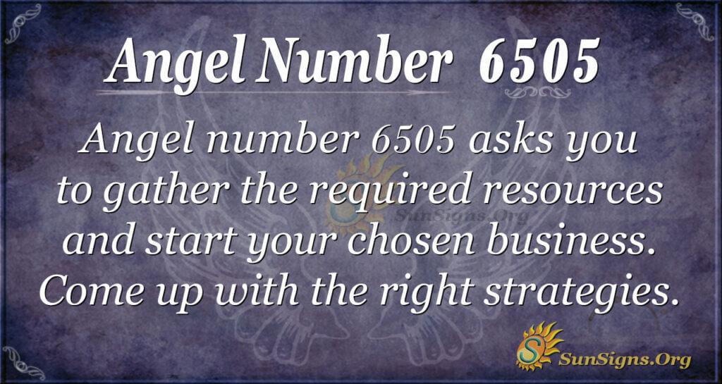 6505 angel number