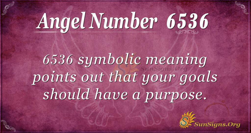 Angel Number 6536