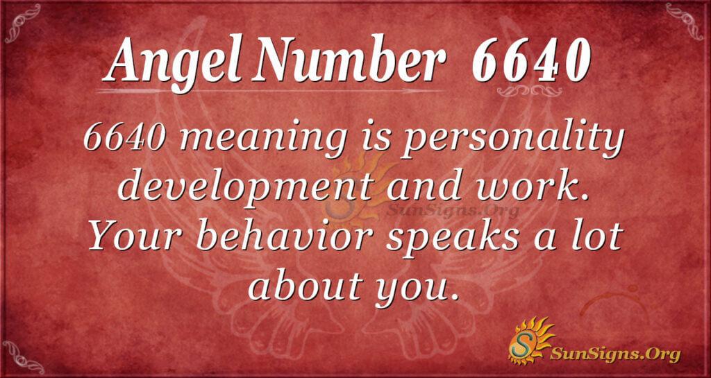 6640 angel number