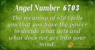 6703 angel number