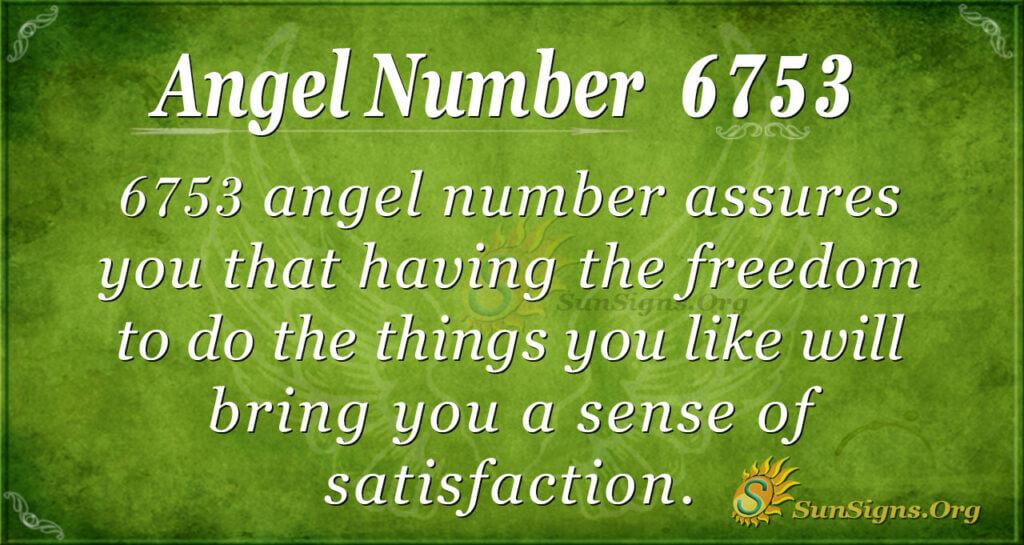 6753 angel number