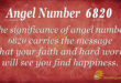 6820 angel number