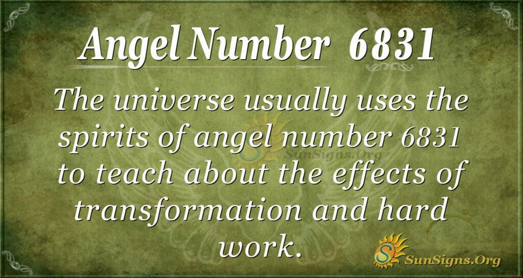 6831 angel number