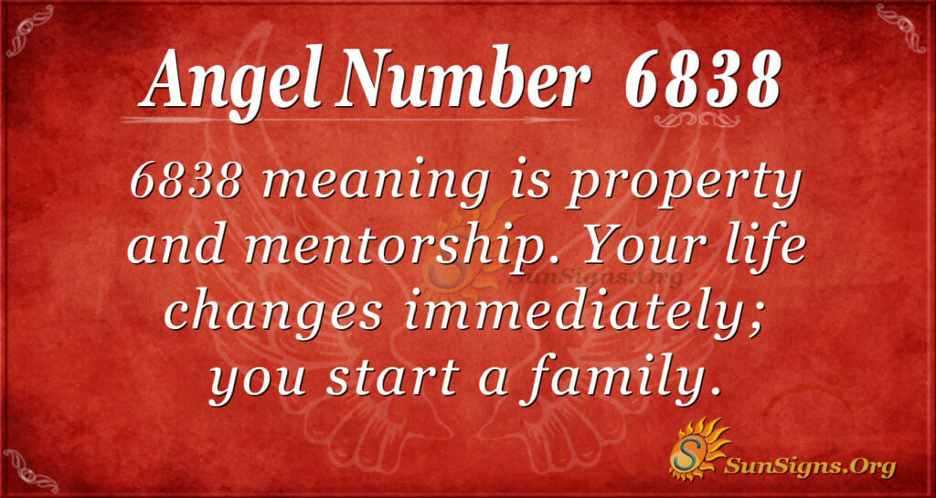 6838 angel number