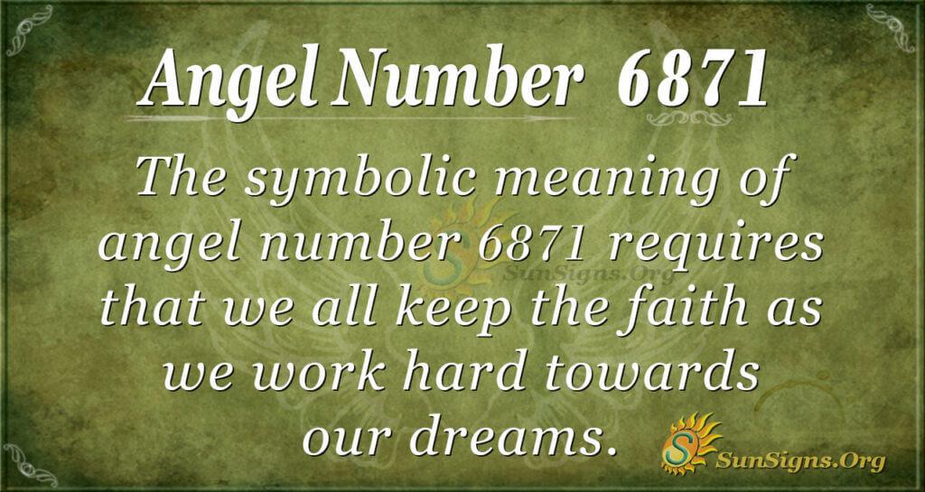 6871 angel number