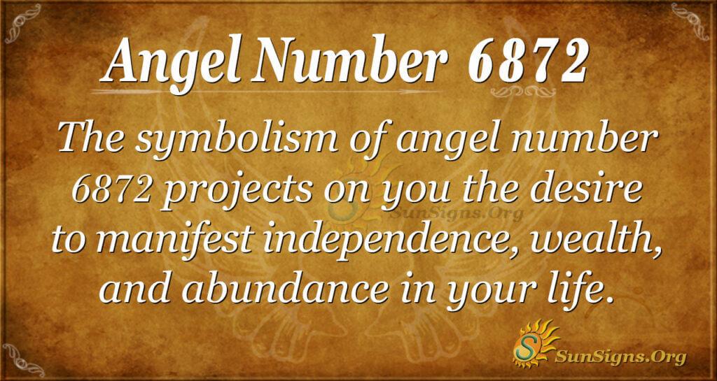6872 angel number