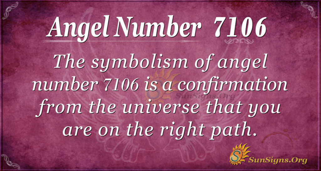 7106 angel number