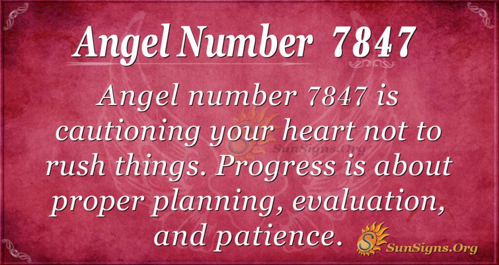 7847 angel number