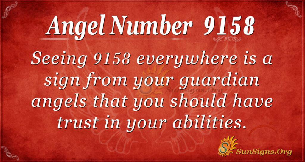 9158 angel number