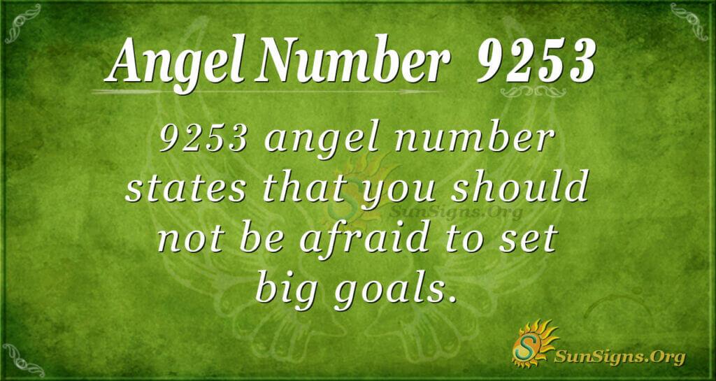 9253 angel number