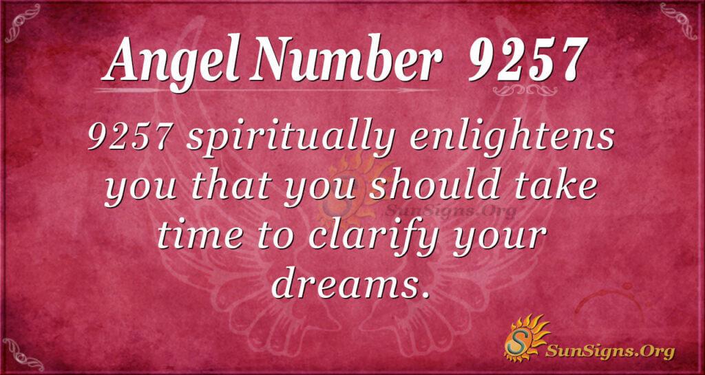 9257 angel number