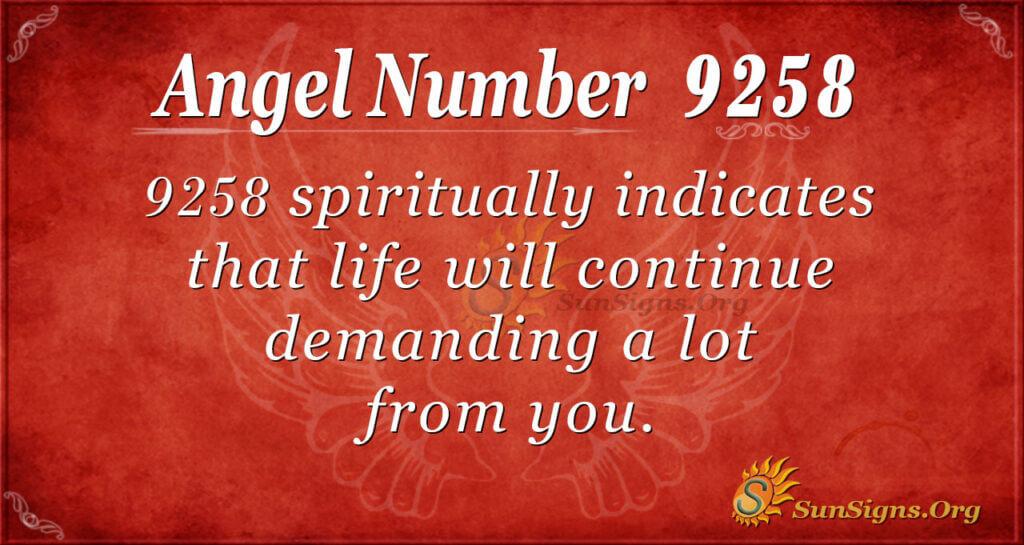9258 angel number