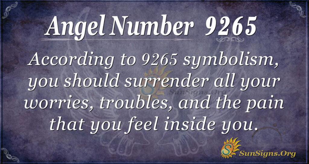 9265 angel number